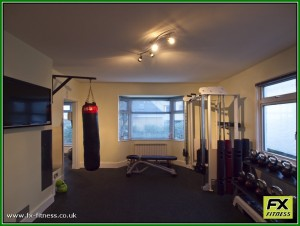 Functional training, free weights and boxing area