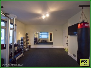 free weights and functional training area
